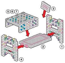 sandylandya@outlook.es  perler bead 3d patterns bed - Google Search
