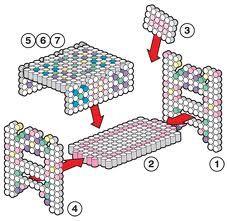 sandylandya@outlook.es  perler bead 3d patterns bed - Google Search
