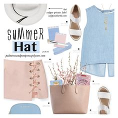 """Top It Off: Summer Hats"" by palmtreesandpompoms ❤ liked on Polyvore featuring Rebecca Minkoff, Steve J & Yoni P, Alexis Bittar, André Assous, Calypso Private Label, Versace, Rochas, MICHAEL Michael Kors, Trish McEvoy and rebeccaminkoff"