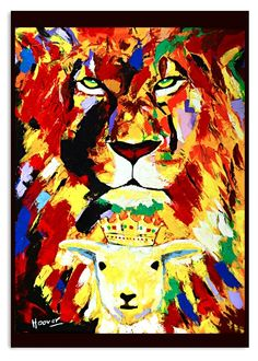 Acrílico y oleo sobre lienzo el corderito Rey 140,x 100