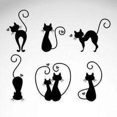 """Love Cats 190M Durable & Sturdy Mylar Stencil - 6 X 6 """" - 8 X 8 """"- 12 X 12"""""""