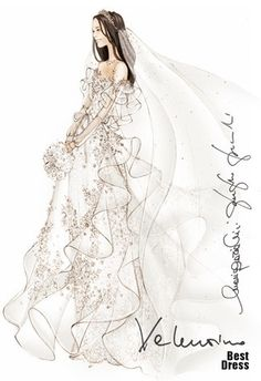 Kate's wedding dress, as designed by Valentino