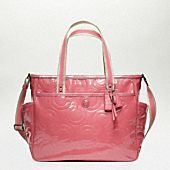 baby bag patent tote by Coach.