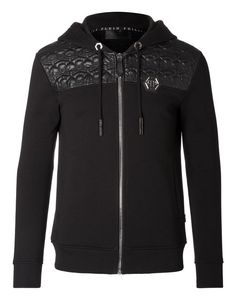 "PHILIPP PLEIN Hoodie Sweatjacket ""Tadako"" in Black"