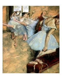 Box Canvas Print (other products available) - DEGAS: BALLET CLASS, <br>A Ballet Class. Oil on canvas by Edgar Degas, - Image supplied by Granger Art on Demand - inch Box Canvas Print made in the UK Edgar Degas, Oil On Canvas, Canvas Art, Canvas Prints, Degas Dancers, Ballet Dancers, Ballerinas, Degas Ballerina, French Impressionist Painters