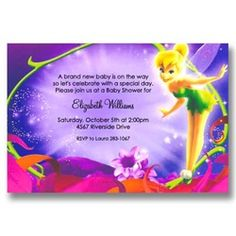 24 best disney baby shower invitations images on pinterest baby magical tinker bell baby shower invitations filmwisefo