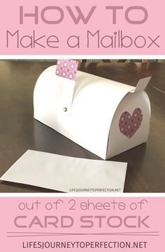 Life's Journey To Perfection: How to Make a Paper Mailbox out of 2 Sheets of Card Stock!!