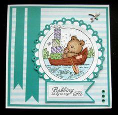 Hand made birthday card using LOTV Bobbing Along stamp