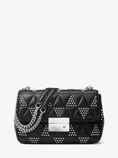 Borsa a spalla Sloan grande in pelle con borchie. Quilted LeatherStudded  LeatherMichael Kors ... 119b0081e5d