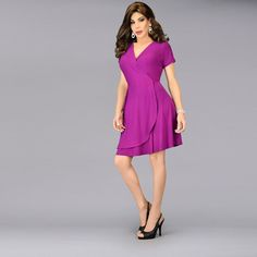There's nothing more fabulous than the perfect wrap dress. Get ready to drape yourself in our uber femme, flowing style. Wrap Dress Outfit, Dress Outfits, Sewing Lingerie, Dresses For Work, Wrap Dresses, Matches Fashion, Purple Fashion, Satin Bows, Purple Dress