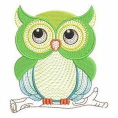 Cute Owls 02(Md) machine embroidery designs
