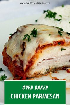 Easy, delicious and savory recipes for oven baked chicken parmesan. Let's try this amazing recipe at your home. Oven Baked Chicken Parm Recipe, Easy Chicken Parmesan Bake, Parmesan Chicken Breast Recipe, Easy Baked Chicken, Yummy Chicken Recipes, Baked Chicken Breast, Sliders, Allrecipes, Casserole
