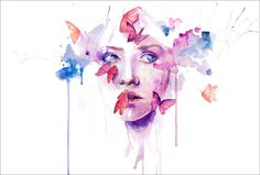 About A New Place by Agnes Cecile  Fine art prints available from $48 at Eyes On Walls  http://www.eyesonwalls.com/collections/agnes-cecile/products/about-a-new-place-fine-art-print#