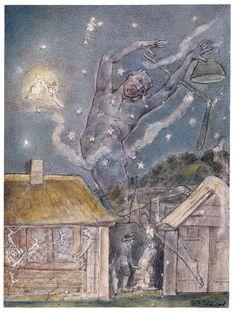 The Goblin — WilliamBlake  1820.  Watercolor over traces of black chalk. The Morgan Library