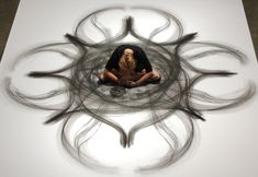 heather hansen - charcoal drawings that combine movement and art