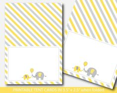 Yellow elephant baby shower food labels, Food tent cards, Place cards, Food tent labels, Place settings, Buffet labels, BE5-10 Elephant Birthday, Elephant Baby, Food Tent, Tent Cards, Food Labels, Cute Food, Place Settings, Buffet, Place Cards