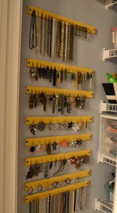 Hanging Jewelry Organizer - 20 Clever DIY Home Organization Ideas