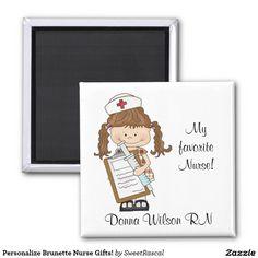 Personalize Brunette Nurse Gifts!