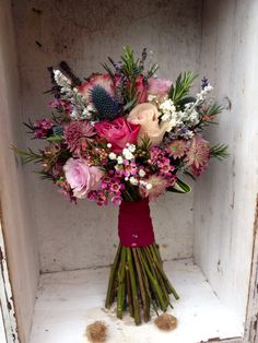 Flourish Wedding Bridal Bouquet - Winter - Wax Flower & Eringium Price £40.00