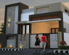 Two floors house. Single Floor House Design, Duplex House Design, House Front Design, Small House Design, House Elevation, Front Elevation, Pooja Mandir, Building Front, 2 Storey House