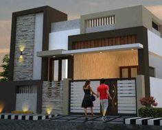 Two floors house. Duplex House Design, House Front Design, Small House Design, Door Design, Exterior Design, House Elevation, Front Elevation, Pooja Mandir, Building Front