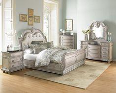 Queen Bedroom Set 1394N-QBS Palace II, Furniture Factory Direct Queen Bedroom Sets
