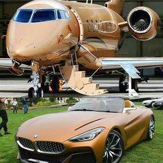 Flugzeug & BMW Auto - Source by Jets Privés De Luxe, Luxury Jets, Luxury Private Jets, Private Plane, Maserati, Bmw Concept, Skyline Gtr, Lamborghini Gallardo, Carros Bmw