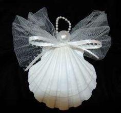 sea shells crafts ideas   seashell christmas ornament angel   Craft Ideas