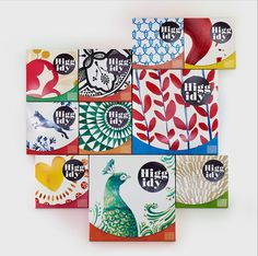 An eclectic and eye-catching new brand identity for Higgidy, a British pie   and quiche company, has been unveiled by B&B studio. The new identity   embraces the handmade aspect of each product and the imperfection that   comes with it.