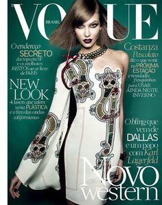 Karlie Kloss Gets Dark for Vogue Brazil July 2014 Cover