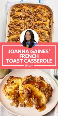 The Best Part of Joanna Gaines' Overnight French Toast Is the Topping - Breakfast & Brunch - Apfel French Toast, Best French Toast, Cinnamon French Toast, French Toast Bake, Easy Baked French Toast, Best Brioche French Toast Recipe, Baked French Toast Overnight, Croissant French Toast, Crockpot French Toast