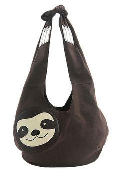 Sleepyville Critters Hang Loose Sloth Shaped Hobo Shoulder Bag Purse