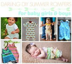 28 Darling DIY Summer Rompers For Baby Boys & Girls. Patterns and tutorials!
