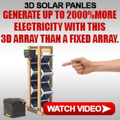 Make your own free electricity with solar panels. Watch this video to learn how to generate more solar power with a fixed array. Renewable Energy, Solar Energy, Solar Power, Nikola Tesla Free Energy, Survival Books, Emergency Supplies, Emergency Preparedness, Heat Exchanger, Alternative Energy