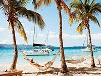 Soggy Dollar Bar, Jost Van Dyke - British Virgin Islands. Went here with my sisters & mom last December!  Most beautiful beach ever!!