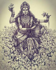 Art Drawings Sketches Simple, Pencil Art Drawings, Pencil Sketching, Durga Painting, Ballpoint Pen Art, Krishna Art, Krishna Drawing, Shiva Art, Ganesha Art