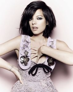 Lily Allen an English recording artist and actress.