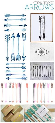 love the hand sketched arrows