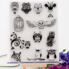 Scrapbook DIY photo cards account rubber stamp clear stamp transparent stamps powl birdcage 14x18cm KW642115-in Stamps from Office & School Supplies on Aliexpress.com | Alibaba Group