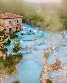 Beautiful Terme di Saturnia hot springs in Tuscany, Italy. Beautiful Terme di Saturnia hot springs in Tuscany, Italy. Beautiful Terme di Saturnia hot springs in Tuscany, Italy.<br> More memes, funny videos and pics on Cool Places To Visit, Places To Travel, Travel Destinations, Places To Go, Travel Tips, Best Places In Italy, Travel Abroad, Peaceful Places, Beautiful Places
