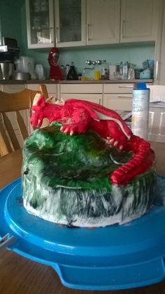 verjaardagstaart, draken