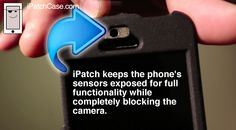 Lens Cap for iPhone covers the camera for privacy and to protect from the elements - http://www.ipatchcase.com
