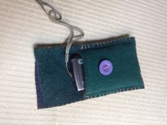 Camera Pouch / Peace Pouch made with Upcycled by ShovelandSpade