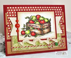 Loaded with healthy, farmers market goodness and charming details, this clear polymer stamp set will help you share the bounty of your card-making talents in anything you make. Three large focal image