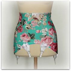 Girdle Rose Garden Open Bottom Girdle by CocosRetroCloset on Etsy, $51.00