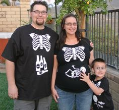 Skeleton Maternity xray halloween DIY Iron On by BabytalkDesigns, $15.99
