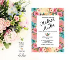 A personal favorite from my Etsy shop https://www.etsy.com/listing/248115591/wedding-invitation-digital-file-photo