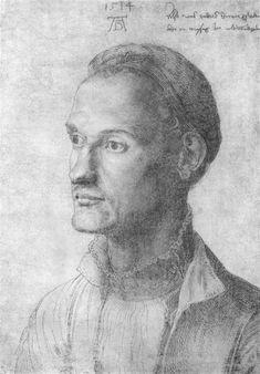 Albrecht Dürer (sign.), Drawing of his brother Endres Dürer (inscription),1514 (dated)   WikiArt.org