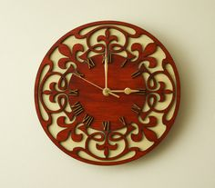 Tree of Life Wood Wall Clock Laser Art, Laser Cut Wood, Wooden Clock, Wooden Walls, Wall Wood, Tick Tock Clock, Wall Watch, Cool Clocks, Clock Art