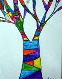 """Artsonia Art Exhibit :: """"Me"""" Tree"""